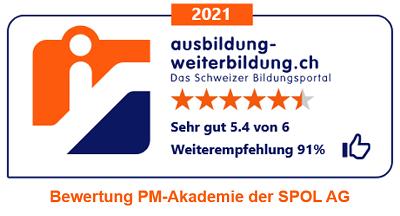 Bewertung der SPOL PM-Akademie durch Ausbildung-Weiterbildung.ch